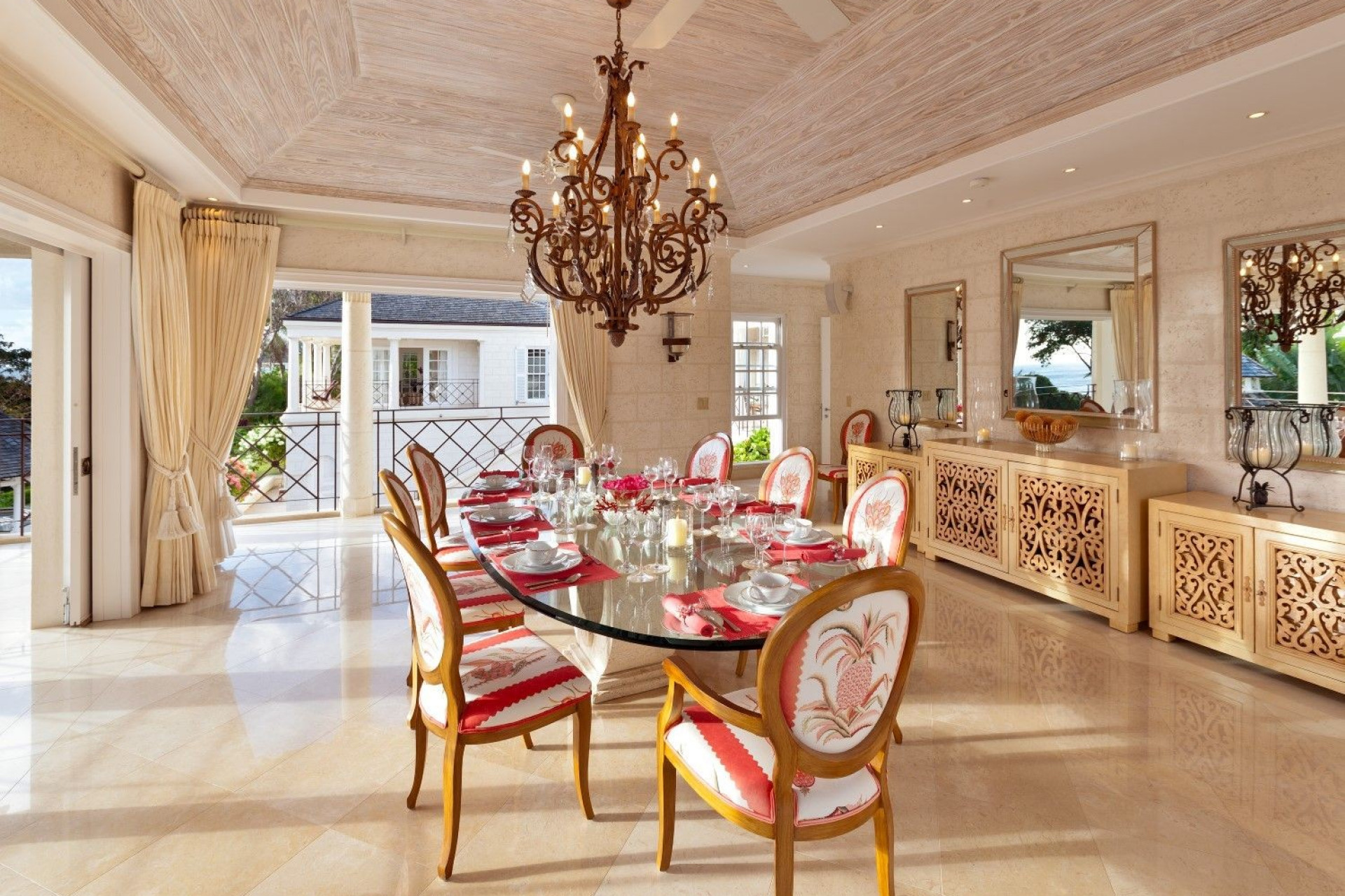 Pineapple Chair Lounge 5 Bedroom Villa Sugar Hill, Barbados with Private Pool, Putting Green & Sea Views