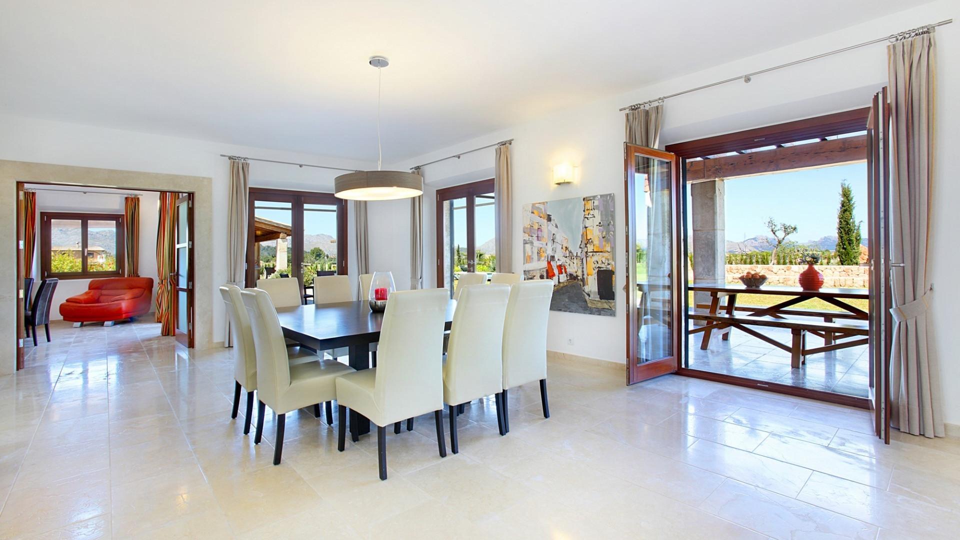 Luxury 5 Bedroom Villa Pollenca Large Private Pool & Table Tennis