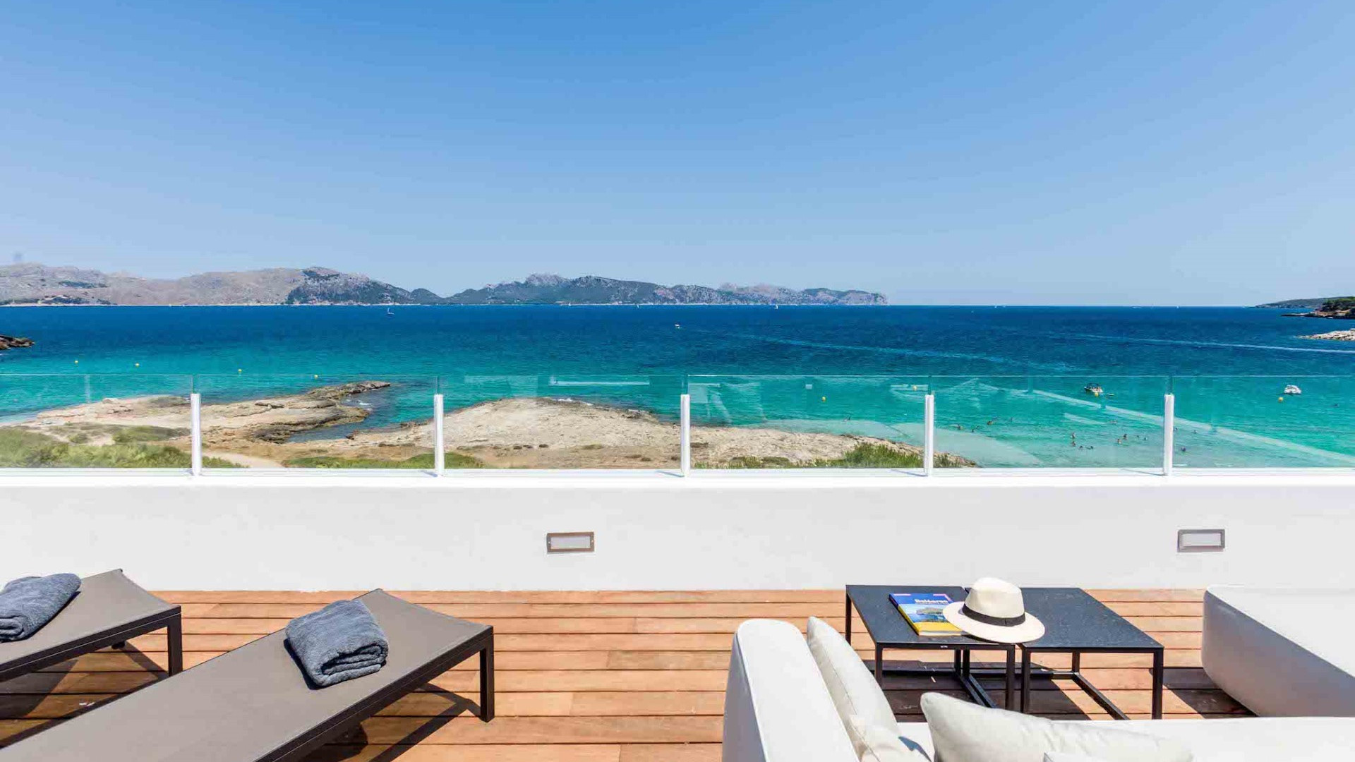 5 bedrooms Mal Pas Alcudia Beach Front Designer Villa With Private Pool