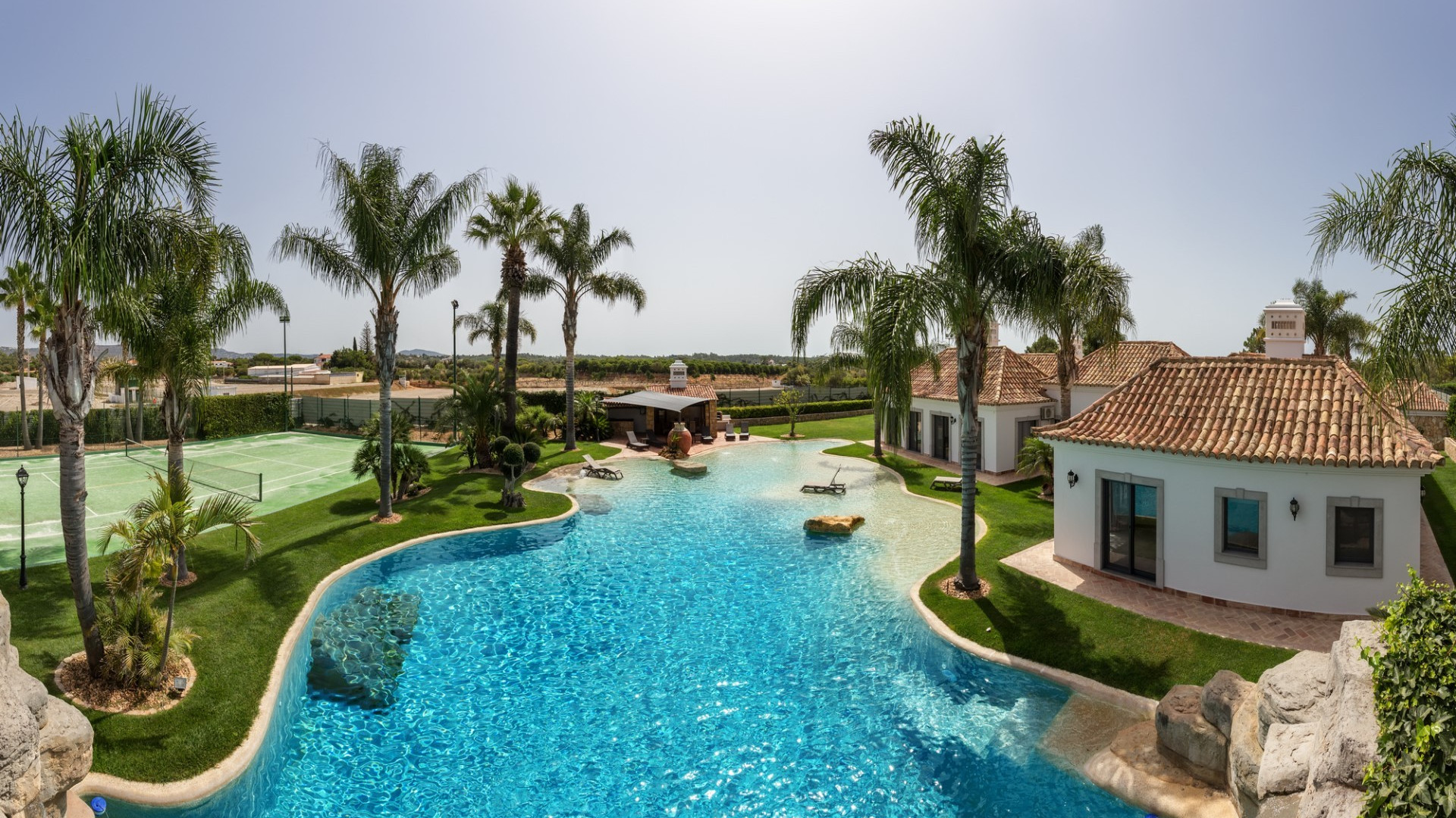 Luxury 4 Bedroom Villa | Quinta do Lago | Private Pool, Childrens Pool, Water Fall & Tennis Court