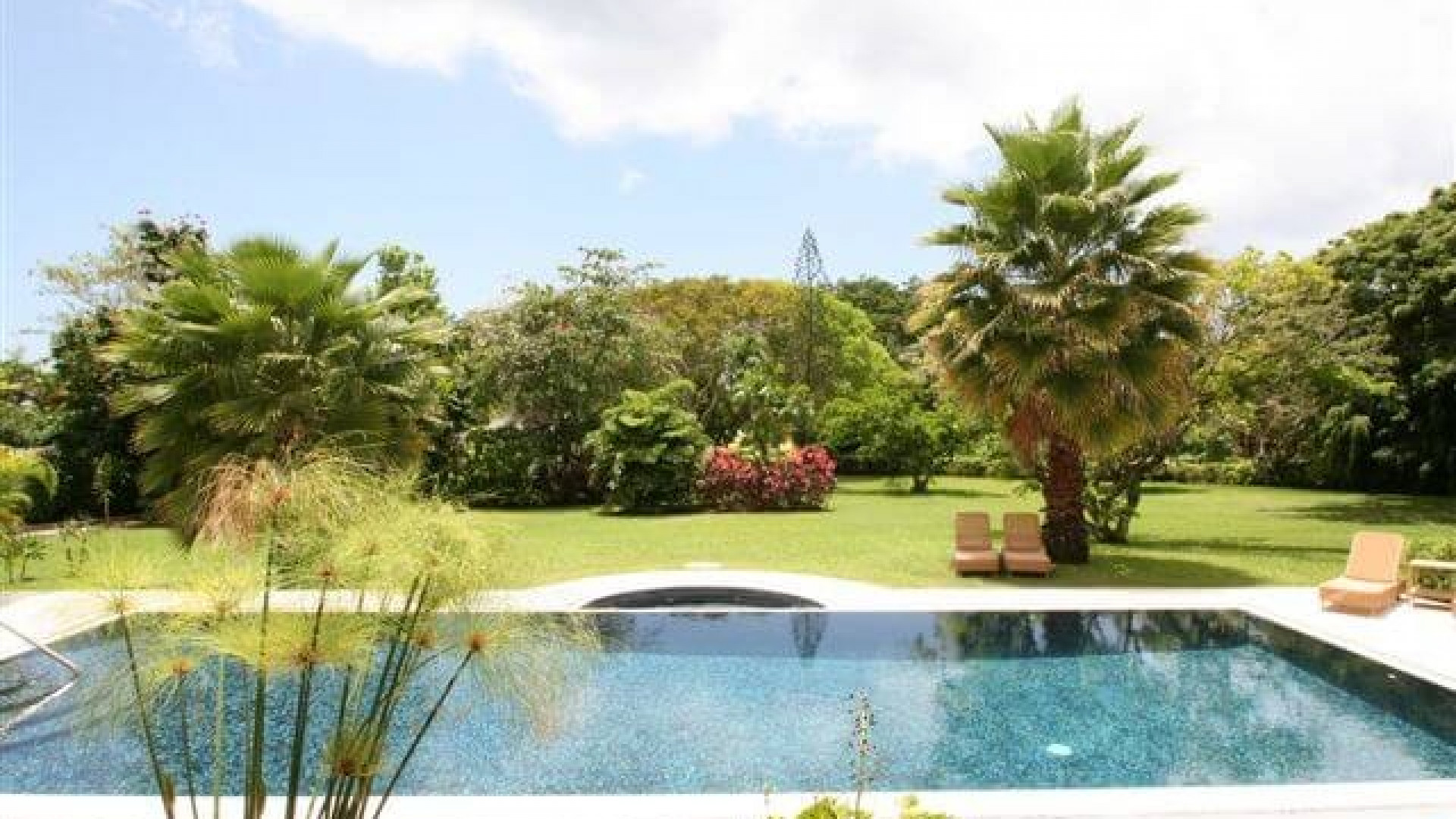 Pool in Garden of 6 Bedroom Villa in Sandy Lane with Private Pool & Tropical Garden