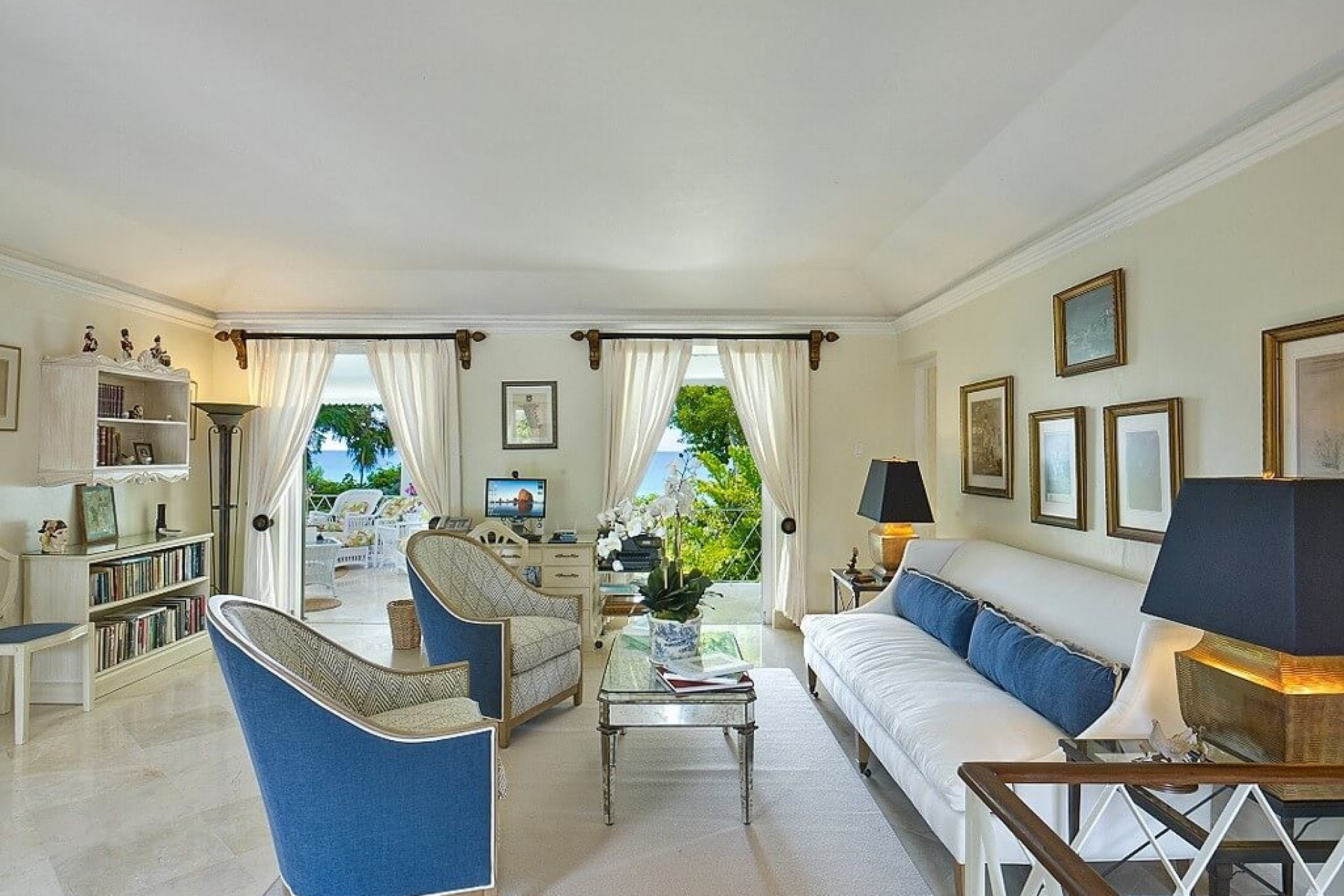 Lounge with Sea Views 8 Bedroom Beachfront Villa in St James with Speed Boat & Private Pool