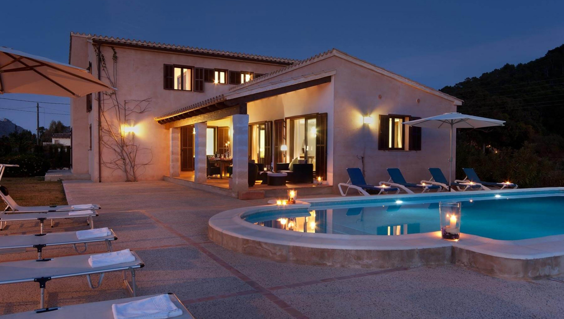 Traditional 5 Bedroom Villa Pollenca With Private Pool Close To The Beach