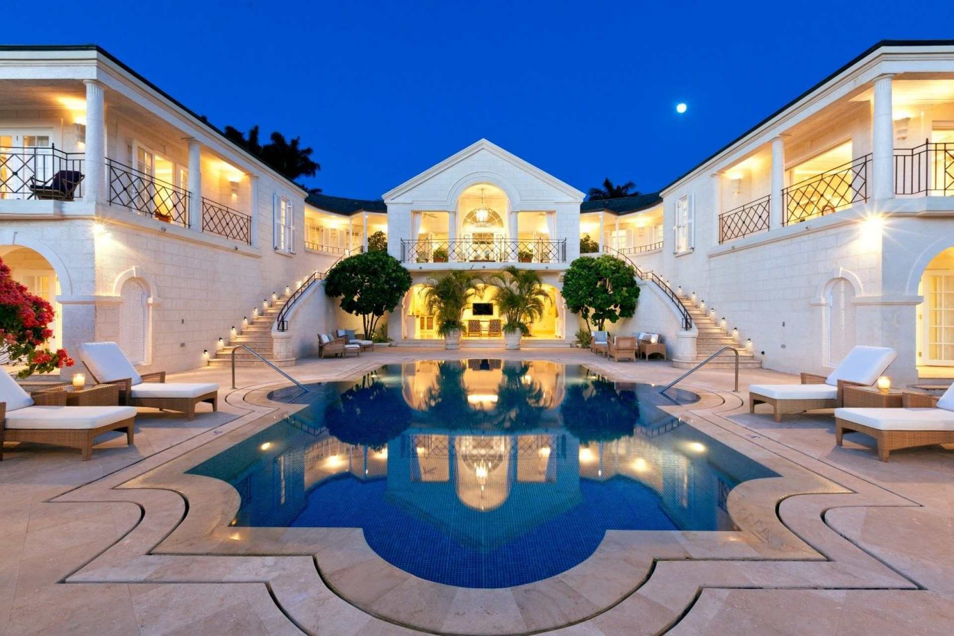 Dynasty TV Show Villa Gated 5 Bedroom Villa Sugar Hill, Barbados with Private Pool, Putting Green & Sea Views